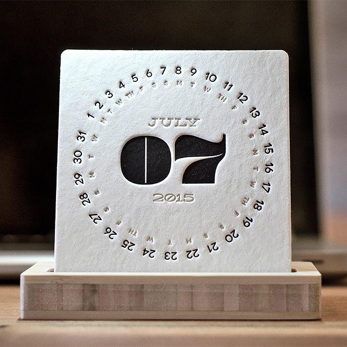 Type Letterpress Desk Calendar by iSkelter