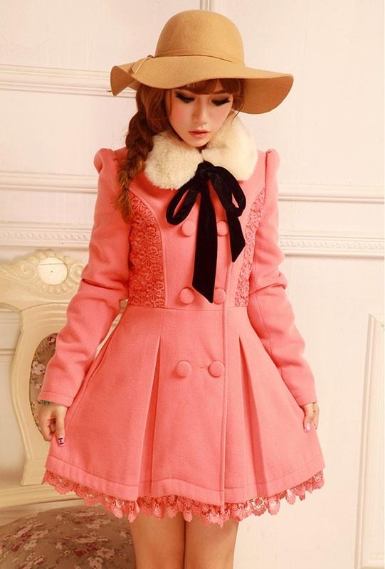 Mango Doll - Sweet Fur Collar Wool Coat , $47.00 (http://www.mangodoll.com/all-items/sweet-fur-collar-wool-coat/)