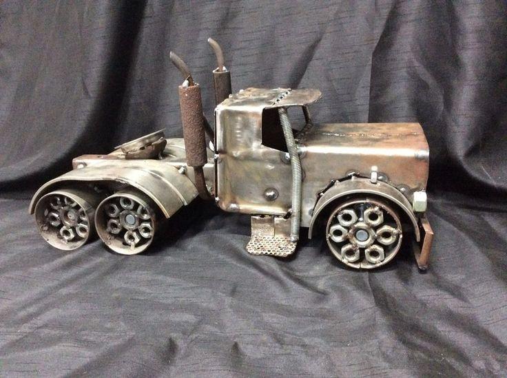 Домашний металл 18-колесный грузовик скульптура стимпанк народное искусство Безумный Макс большой стенд! | Искусство, Изобразительное искусство — скульптуры | eBay!