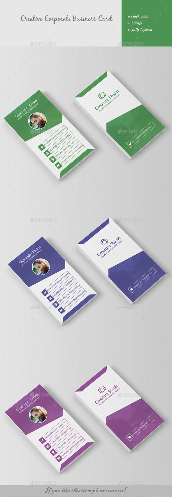Creative Corporate Business Card