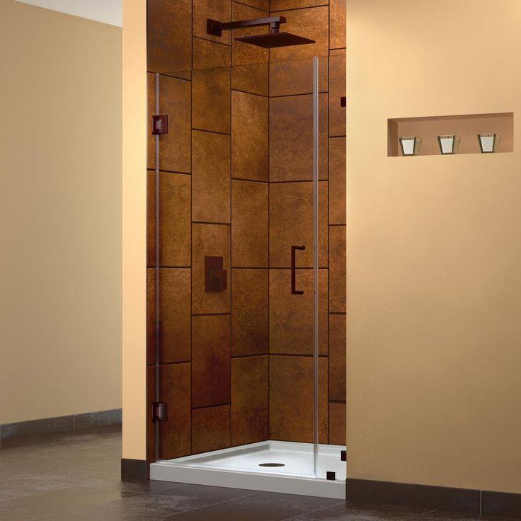 DreamLine Unidoor Lux 33 in. x 72 in. Frameless Hinged Shower Door in
