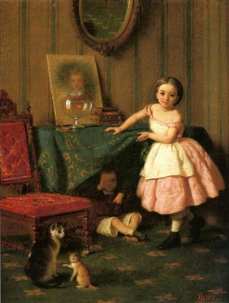 Guilty, Seymour Joseph Guy (1824 - 1910, English-born American), I AM A CHILD-children in art history-blog