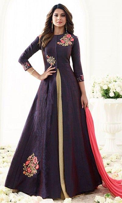 Purple Designer Floor Length Anarkali Suit