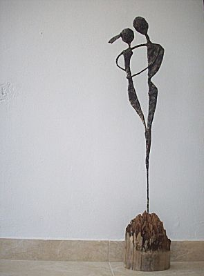 Figures made from tape & wire