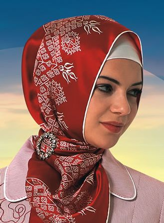 turkish hijab - pinned instead of tied