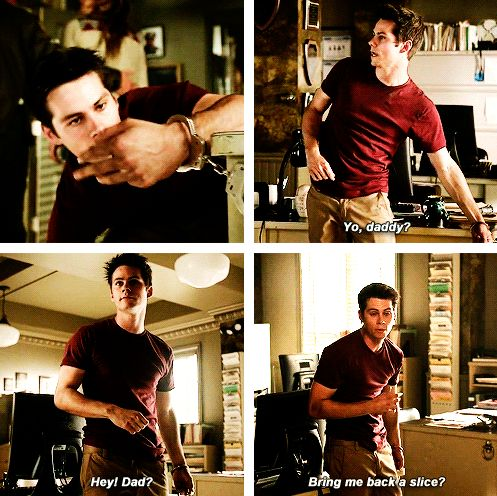 "Teen Wolf Season 04 Episode 12 ""Smoke and Mirrors"" Season Finale. Stiles Stilinski Very, very sneaky Papa Stilinski."