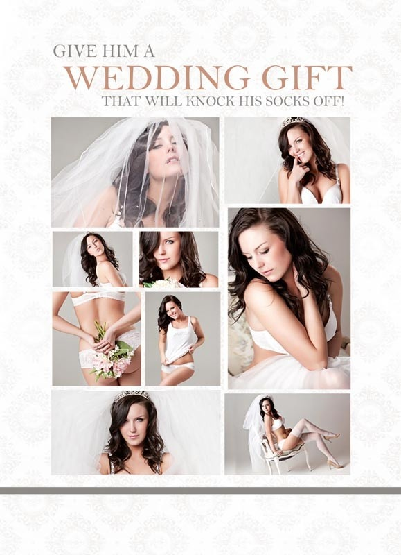Let www.illustratesexy.com provide you with the perfect Bridal Boudoir Photo Shoot For The Groom!