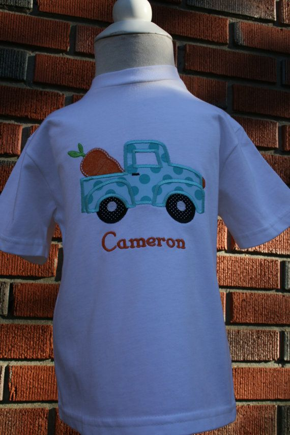 Cute Little Boy S Applique Easter Shirt Old Truck With