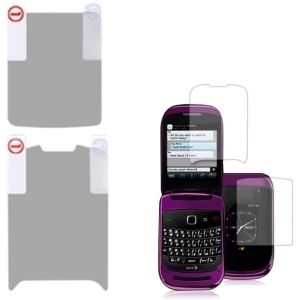 Insten Clear Screen Protector Twin Pack for Blackberry 9670 Style #1127947
