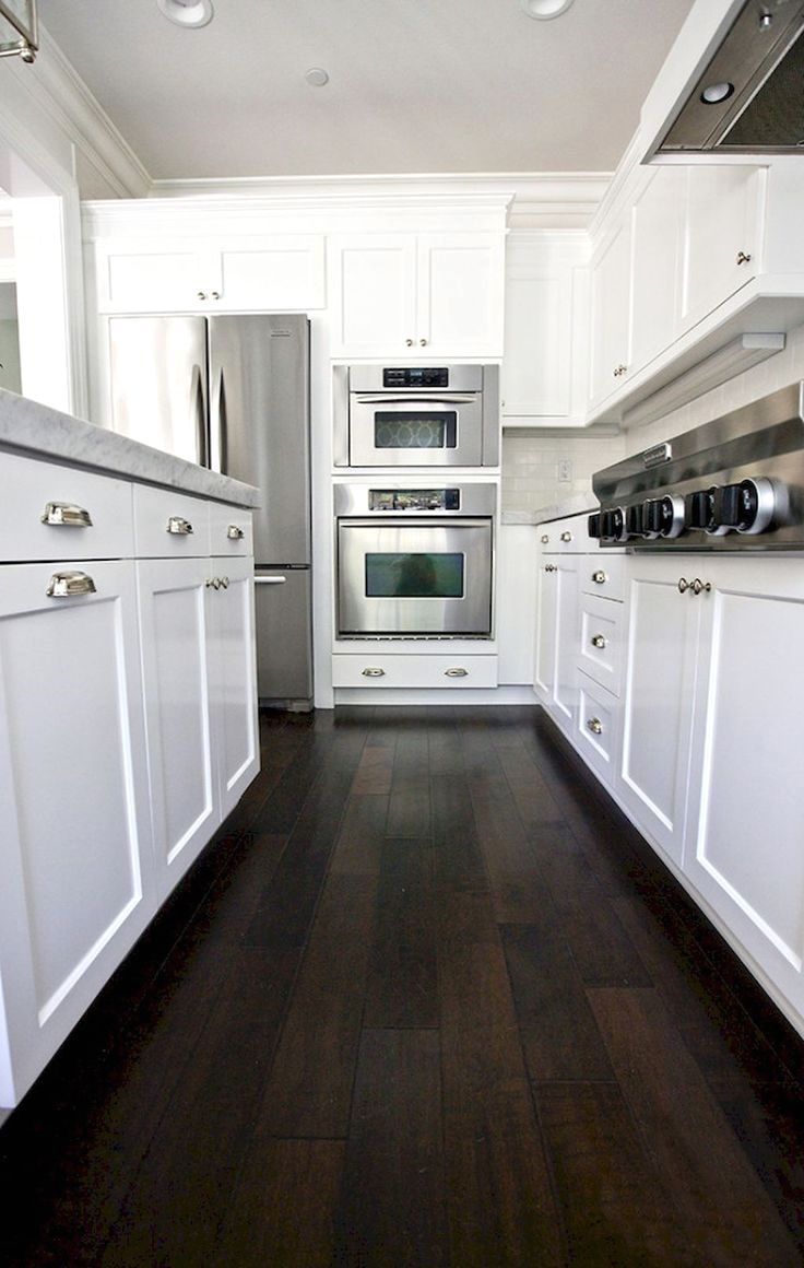 nice 60 beautiful white kitchen cabinet makeover click the pin for lots of wood flooring on kitchen ideas white id=60886