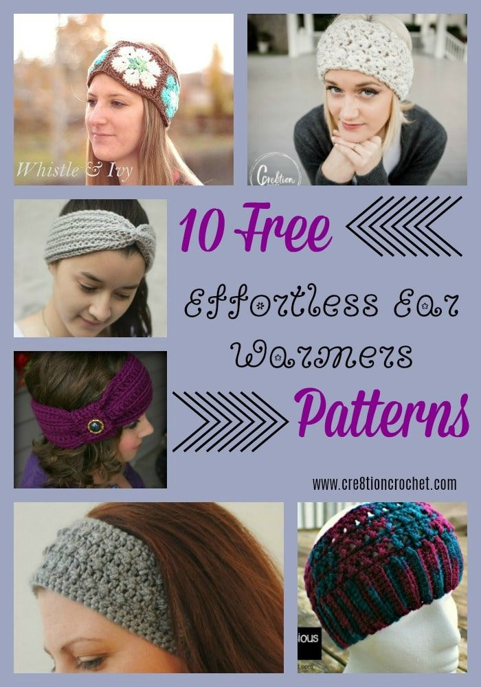 Effortless Ear Warmers Pattern Collection - Cre8tion Crochet