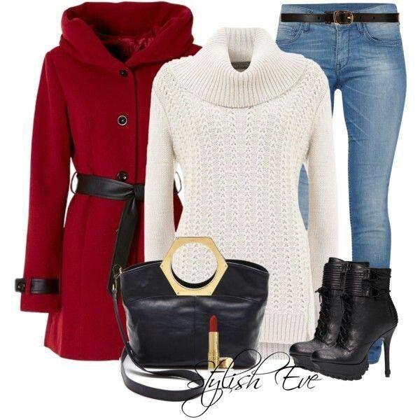 Mu00e1s De 25 Ideas Increu00edbles Sobre Saco Rojo En Pinterest | Outfit Pantalon Rojo Abrigo Rojo ...