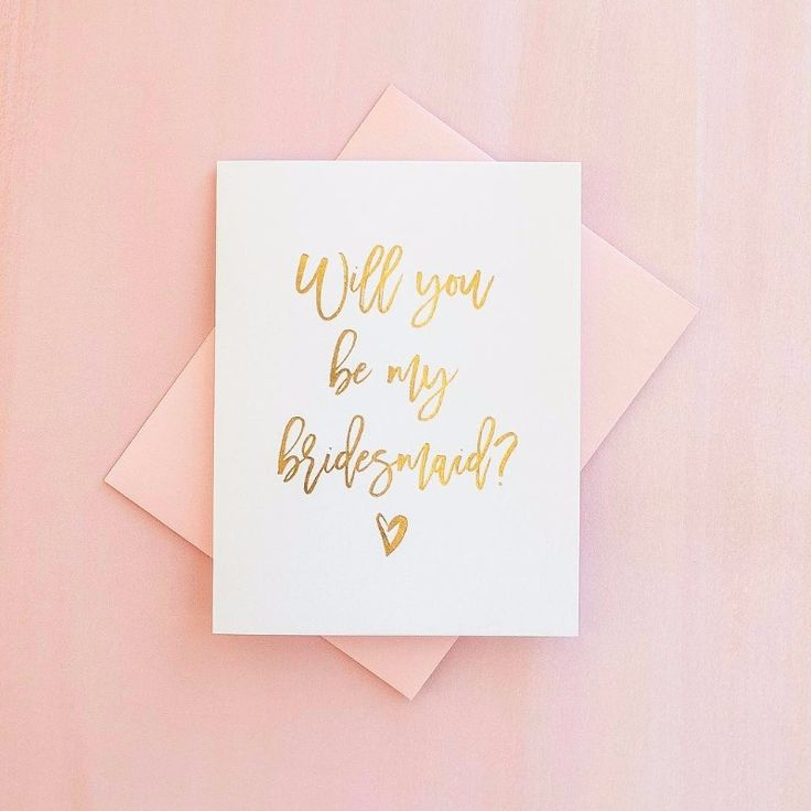 do i send wedding invitations to bridesmaids%0A Gold foil WILL YOU BE MY BRIDESMAID card  See more here  http