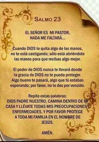 El señor es mi pastor, nada me faltará