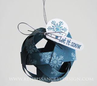 paper christmas ornament tutorial