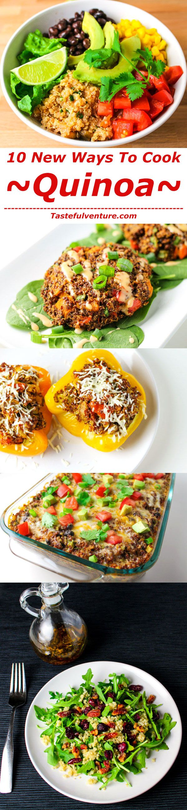 10 New Ways To Make Quinoa! These recipes are all healthy, gluten free, and delicious! | http://Tastefulventure.com