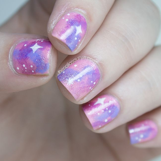piCture pOlish 'Swagger & Pirouette' feature in Pink Galaxy nails by The Nailasaurus!  Shop on-line: www.picturepolish.com.au