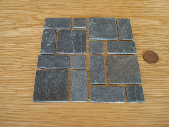 Real Slate Miniature Flagstones Over 80 Years Old For