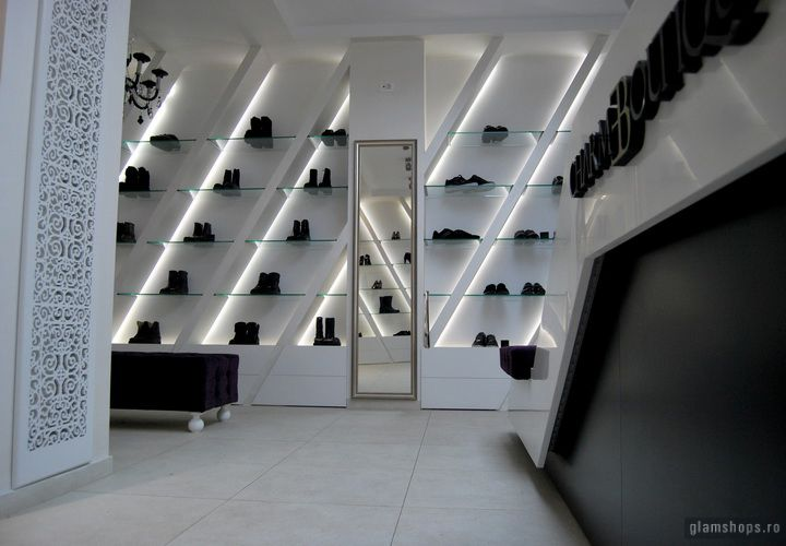 Charme luxury shoe boutique, Bucharest store design ...