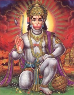 Lord Hanuman.  Hinduism is supposed to be 'apauruseya', i.e., of impersonal origin & so also are the Gods of Hinduism. They are Eternal & though the Deities appear to be different & independent, they are really facets of the same Brahman -- the Supreme God.