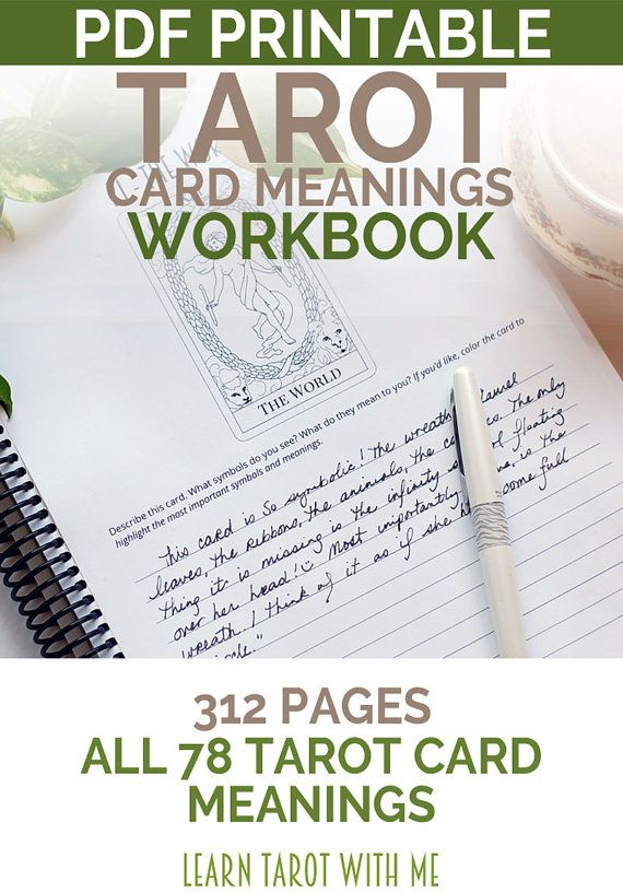 Learn the Tarot Card Meanings Tarot Prompt by LearnTarotWithMe