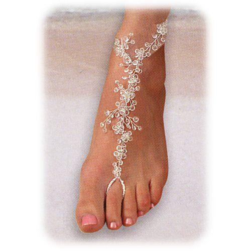 Estas joyas están realizadas con perlas, brillantes de Swarovski, lazos, conchas de playa, etc. Tus pies estarán elegantes y bellos. Están ...