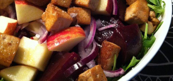 sallad med betor+äpple+tofu