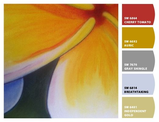 colour scheme from mums frangipani painting