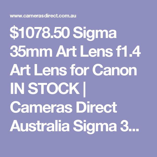 $1078.50 Sigma 35mm Art Lens f1.4 Art Lens for Canon IN STOCK | Cameras Direct Australia Sigma 35mm Art Lens https://www.camerasdirect.com.au/camera-lenses/sigma-lenses/sigma-35mm-art-lens