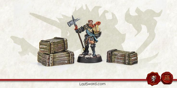 Crates for Warhammer fantasy, Mordheim, frostgrave, Kings of war, Heroquest, WArhammer quest and others wargames.