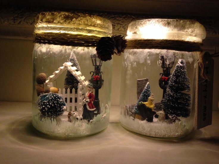 Display Shelves For Collectibles >> Creatief met weckpotten#met lichtjes#winter#kerst | Mijn interieur en creaties ️