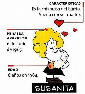#Susanita #Mafalda. Nombre completo: Susanita Clotilde Chirusi