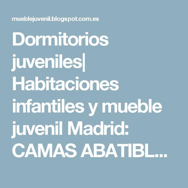 Dormitorios juveniles| Habitaciones infantiles  y mueble juvenil  Madrid: CAMAS ABATIBLES /PLEGABLES INDIVIDUALES  HORIZONTALES DE 90CM