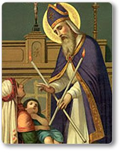 It's from my upbringing, but St. Blaise crosses my mind now and then because of this throat problem.  I wish I had remembered his feast day last month!