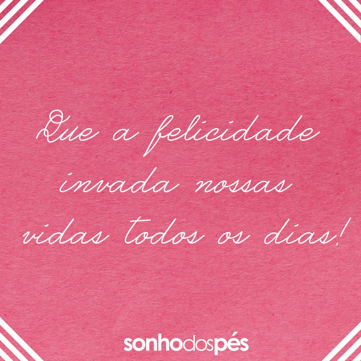 Muita felicidade!