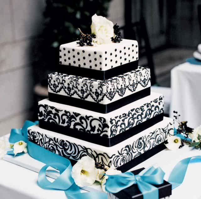 square wedding cakes  love it