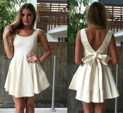 Cream Cocktail Dress----Perfect for bridal shower or bachelorette party!!