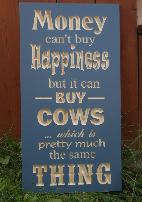 Indoor Carved Wood Sign Money Can't Buy by RCOriginalsGallery