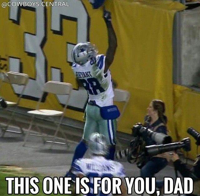 This winning game was for Mr. MacArthur Hatton Dez Bryant's dad who past away last night prayers to the cowboy family... We got your back Dez Bryant....... 8-1