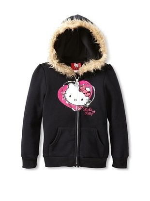 58% OFF Hello Kitty Girl's Fleece Hoodie (Anthracite)