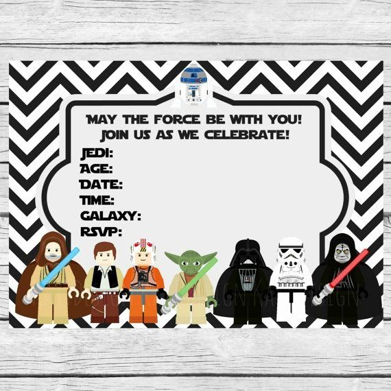 Star Wars Invitations Free Printable Luxury 35 Best Images About Fiesta Star W Star Wars Invitations Free Lego Star Wars Birthday Party Lego Star Wars Birthday