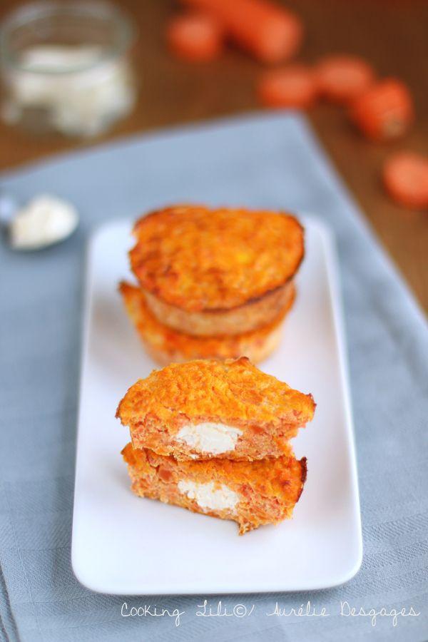 Palets carottes et coeur au fromage frais