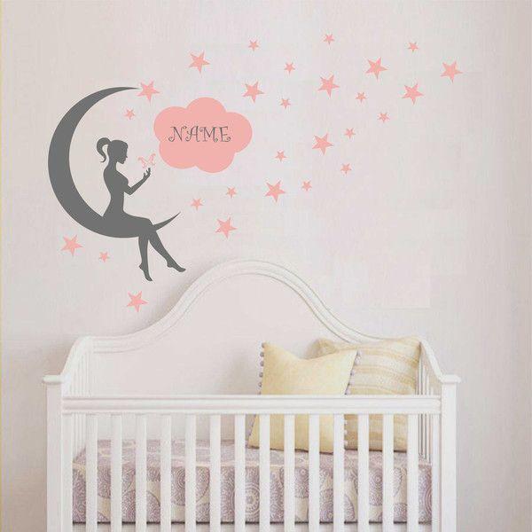 Spectacular Kinderzimmerdekoration Wandtattoo Kinderzimmer FAB Fee auf dem MOON ein Designerst ck von taia s