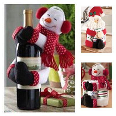 Новогодний декор для бутылок