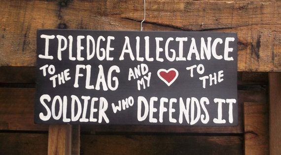 I Pledge Allegiance to the Flag and my Heart to the soldier that defends it hand painted wooden sign by My Seasoned Palette, $25.00 for sale on Etsy. Soldier Sign. Military Sign. Navy. Coast Guard. Marine. Army national guard