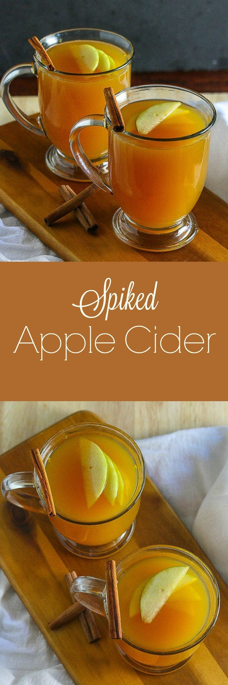 This Spiked Apple Cider from lauren Kelly Nutrition is the cocktail you need this Fall!
