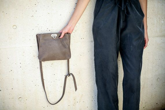 Leather Cross Body Bag Small Leather Bag by CyanByMiriWeiss