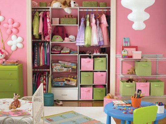 Pretty And Cute Pink Kids Closet Organizers Furniture Ideas For Girls  Bedroom Closet Design   DIY Space Saving Small Closet Organizing Ideas.