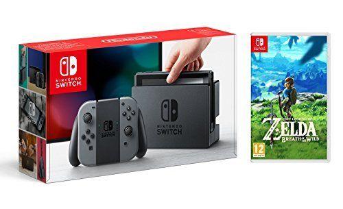 Pack Nintendo Switch avec paire de Joy-Con - gris + The Legend of Zelda : Breath of the Wild