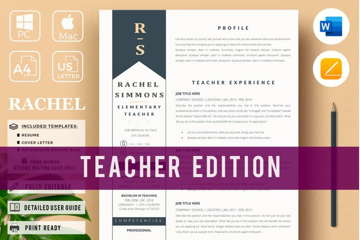 Elementary teacher resume resume for education and cover